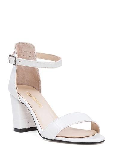 Sole Sisters Topuklu Sandalet Beyaz - Ada Beyaz